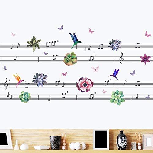 Pvc Musical Hummingbird Entfernbare Wandaufkleber Für Kinderzimmer Wanddekor Aufkleber Wohnkultur Wohnzimmer Dekoration Zubehör -