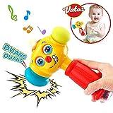 VATOS Licht & Musik Baby Spielzeug Hammer für Babys & Kleinkinder ab 12 bis 18 Monate Lustige veränderbare Augen Hammer Spielzeug für Babys ab 1 Jahr (nur Englische Aussprache)