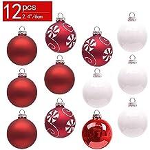 Weiße Christbaumkugeln Matt.Weihnachtskugeln Weiß Matt Suchergebnis Auf Amazon De Für