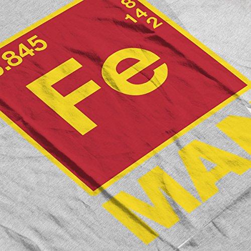 Iron Man Chemical Symbols Women's Hooded Sweatshirt Heather Grey