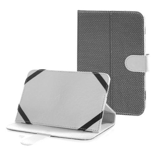 Tasche Etui Hülle Book Case weiss mit Standfunktion passend für Nextbook Premium 7SE ()