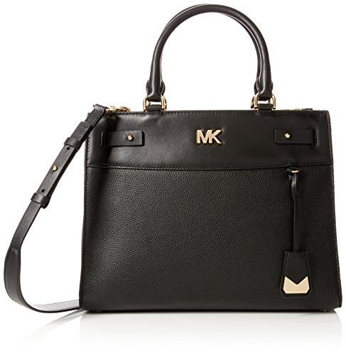 Michael Kors Damen Reagan Lg Satchel Tornistertasche, Schwarz (Black), 9.5x32x25 centimeters