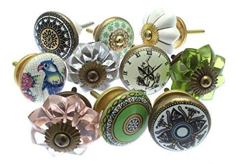 Style vintage chic Mango-133Lot de boutons Placard en céramique x PK 10(mg-260)-\\