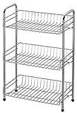 Badezimmerregal Badregal Standregal Badezimmer Handtuch Regal Aufbewahrung Mit 3 Etagen Aus Metall Verchromt