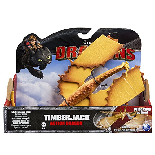 Spin Master 6028979 - DreamWorks Dragons - Action Dragon Holzklau / Timberjack