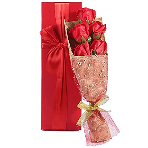 Valentine gift box amazon gift box anniversary gifts elegantly wrapped of 5 scented roses in a charming gift box ideal gift for anniversary birthday mothers and valentines day negle Gallery