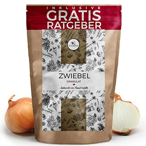 Zwiebel-Granulat Zwiebelpulver 500g I Zwiebeln getrocknet & gemahlen aus Indien inkl. gratis...