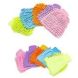 JSHSTGB 2PCS/lotto domestici guanti antigraffio in microfibra guanto guanto di pulizia guanti stracci casa pulizia
