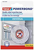 tesa UK 58565-00001-00 Powerbond Universal Double Sided Foam Tape for Crafts - White