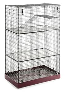 Home Sweet Home Cage pour rat-chinchilla Rouge/gris Taille XL