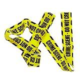 Crime Scene Absperrband Flatterband Tatort gelb schwarz Halloween Dekoration Investigators Zubehör Ermittler Accessoire Krimiparty Krimidinner