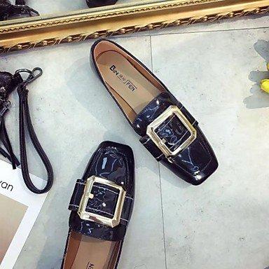 Chaussures Rond Plat De Tomber Amp; Rouge Slip Ons Loafers SHOESHAOGE Pour Femmes Talon Noir Un Black Bout Pu Confort gxROdEpwq
