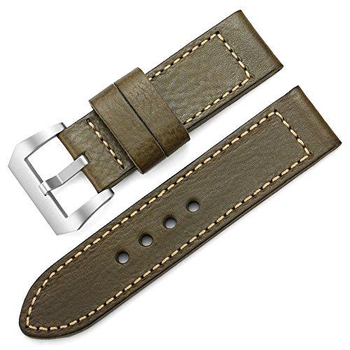 20mm 22mm 26mm Fascia di cuoio Handmade della fascia della vigilanza di...