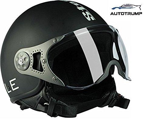 Steelbird SB-27 Style Open Face Helmet (Black) 600MM