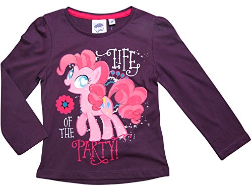 My Little Pony Kollektion 2017 Langarmshirt 92 98 104 110 116 122 128 Pinkie Pie Lila (92 - 98, (Pie Pinkie Kleid)