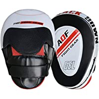 AQF Focus Pads Rex Leather,Hook and Jab Mitts,MMA Kick Boxing Muay Thai Sparring