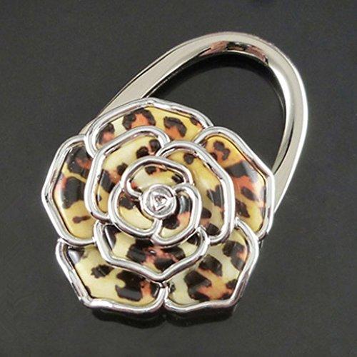 ANKKO Rose Blume Faltbare Handtasche Beutel Aufhänger Halter Tabelle Haken - Handtasche Tabelle Aufhänger