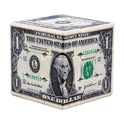 Lecc Rubik Magic 3x3x3 US-Dollar UV-Druck Cubes Blind Fingerprint Stereo Cube 3D Geprägte Persönlichkeit Cube Gehirn Wettbewerb Spiel-Pandora,A