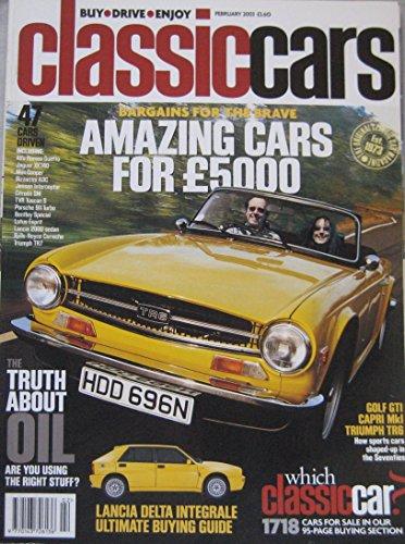 classic-cars-magazine-02-2003-featuring-vw-golf-gti-triumph-lancia-delta-integrale-ford-capri