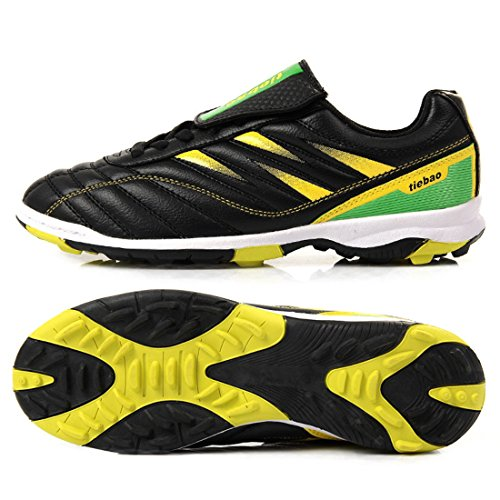 Men's Turf Soles Chuteira Soccer Athletic Football Shoes Black