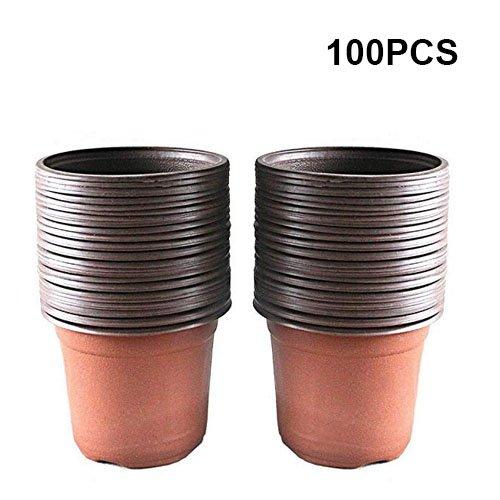 G2PLUS 100 Stück Pflanztöpfe Pflanzkübel 10CM *10CM * 9CM Pflanzentöpfe (Small Size)