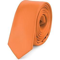 Ladeheid Corbatas Estrechas Diversidad de Colores Accesorios Ropa Hombre SP-5 (150cm x 5cm, Albaricoque)