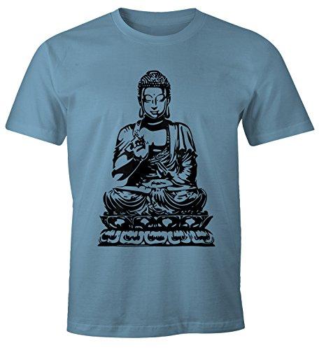 MoonWorks Herren T-Shirt Buddha Stone Blue XXL