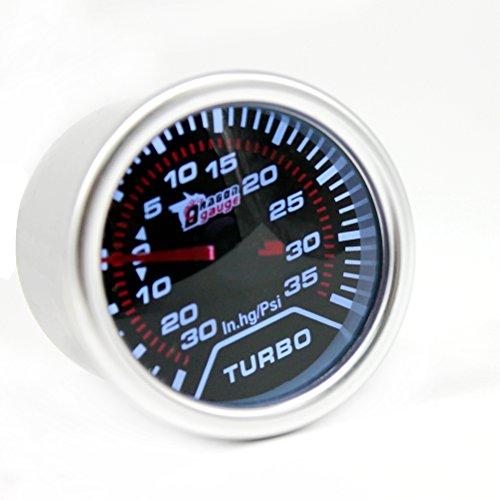 KKmoon 2pouces Turbo Boost Compteur Jauge Blanc Num/érique LED