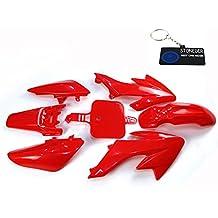 Carenado STONEDER de plástico rojo, conjunto para Honda XR50 y CRF50 y quad Stomp Coolster