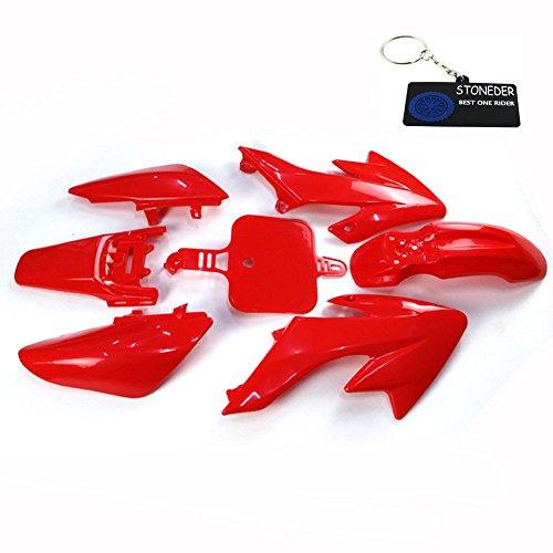 Rouge Un Moteur de Xin centres Coque Couvre gardes kit dembrayage pour Suzuki Dr-z400s Drz400e Drz400sm Kawasaki Klx400