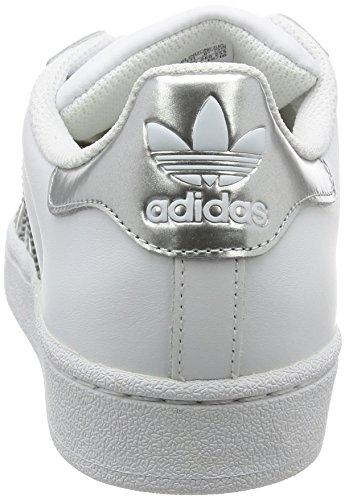adidas Damen Superstar Basketballschuhe, Mehrfarbig (Ftwwht/Silvmt/Cblack), 38 2/3 EU -