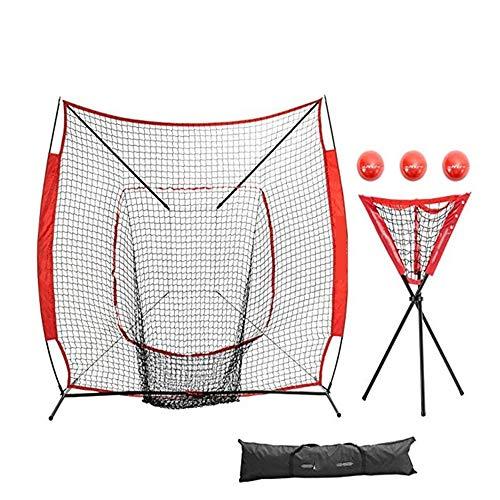 ZMXZMQ 7x7 Practice Net Bundle W/Strike Zone, Team- Oder Solo-Training, Schlagen Und Werfen, Pitching Batting -