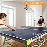 Rymora Table Tennis Bats and Balls Set (2 Bats and 3 Balls for 2 Player Ping Pong) (Recreational Set: 3-Star Rackets and 2-Star Balls)