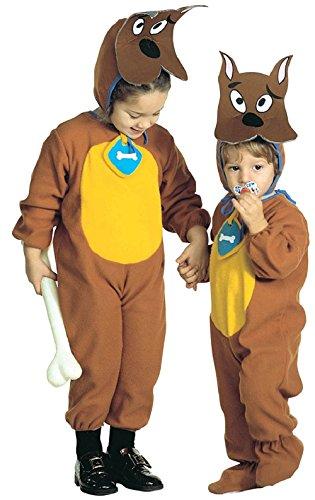 te ♛ Größe L - 3 / 4 Jahre - Kostüm Verkleidung Karneval und Halloween von Scooby DOO Hund Farbe Braun Männliches Kind (Scooby Doo Kostüme Amazon)
