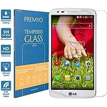 PREMYO cristal templado LG G2. Protector cristal templado LG G2 con una dureza de 9H, bordes redondeados a 2,5D. Protector pantalla LG G2