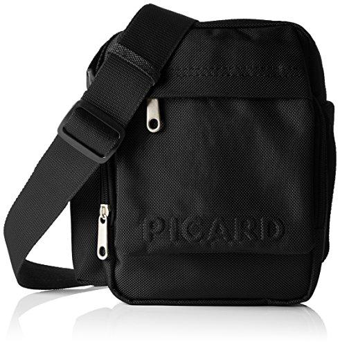 Picard Damen Hitec Umhängetaschen, 15x21x8 cm Schwarz (Schwarz)