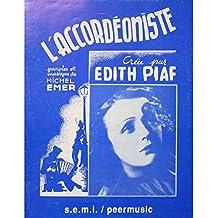 La accordéoniste–Edith Piaf–Partición–Stock B