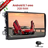 Android 8.1 4Core 2GB RAM 2Din Jugador de coche con GPS Pantalla táctil de 9 pulgadas Car Styling Receptor de radio en Dash Autoradio Link Protector SWC para Volkswagen