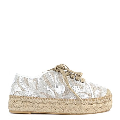 Kanna Path Sequin Espadrillas Bianco Donna 41 Bianco