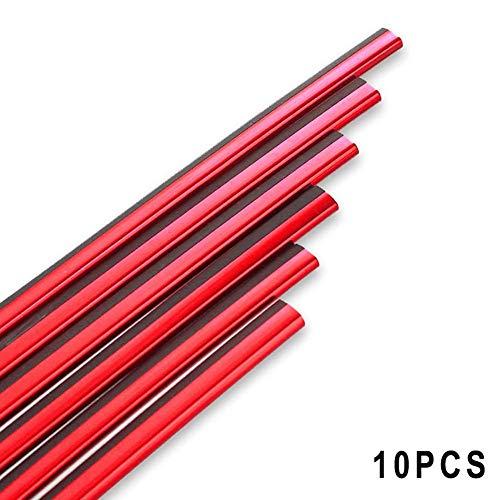 Sortim 10 Stück Auto Styling Lüftungsgitter Auslass Gitter Rand Leiste Innenverkleidung Dekoration Linie - rot (Rot-strip-line)