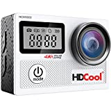 HDCool Action Kamera 4K 20MP Wi-fi mit 170 Wasserdichte Unterwasser Video Sports Cam Grad...