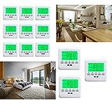 HJ® 12x LCD Thermostat Raumthermostat Digitaler Heizung Taste Raumregler Fußbodenheizung Grün Neu