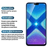 like it grab it 4 Cut All Sides Protection Sleek Hard Back Cover for Huawei Honor 8X (Blue) with Black Tempered