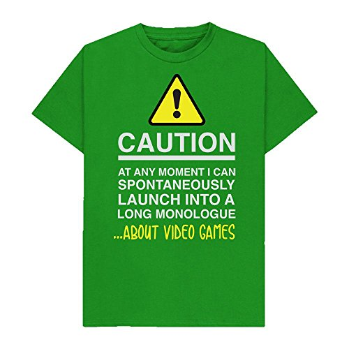 Caution - at Any Moment I Can Monologue About. Video Games - Hobbies - Tshirt - Shaw T-Shirts - Sizes Small to 2XL