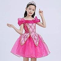JJAIR Princesa del Traje para Arriba el Vestido, Amarillo Belleza de la Princesa Partido del Traje hasta Vestido de cumpleaños para Chicas,Rosado,120