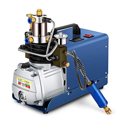 HOOMYA 300BAR 30MPA 4500PSI Pompe électrique à haute pression de compresseur d'air, pour le fusil de plongée pneumatique de pistolet à air pneumatique de bouteille de gonflage de PCP