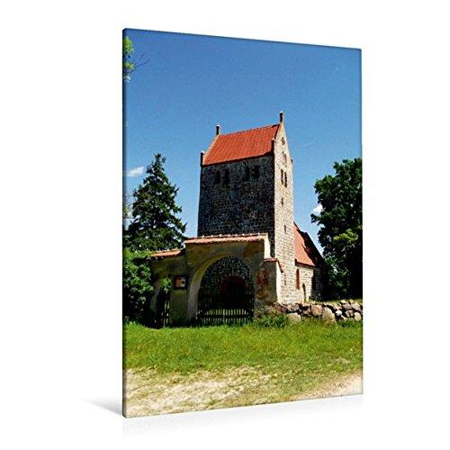Premium Textil-Leinwand 80 cm x 120 cm  hoch, Wehrkirche in Mechow | Wandbild, Bild auf Keilrahmen, Fertigbild auf echter Leinwand, Leinwanddruck (CALVENDO Orte)