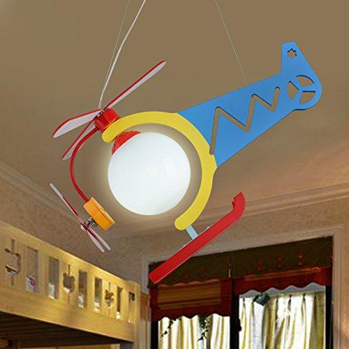 Leuchter, Cartoon Aircraft Jungen Mädchen Zimmer Kreative Schlafzimmer Nette Kinder Kronleuchter Umweltfreundliche Kronleuchter ( farbe : 2 ) - 2