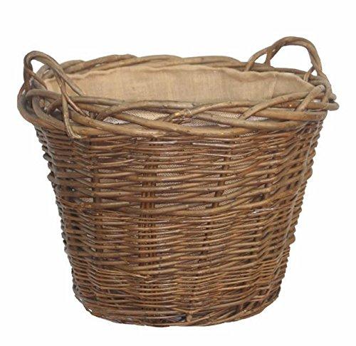 Green Ash Lined Log Basket