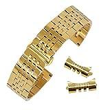 AUTULET Damen Edelstahl Uhrarmband Gold 12mm